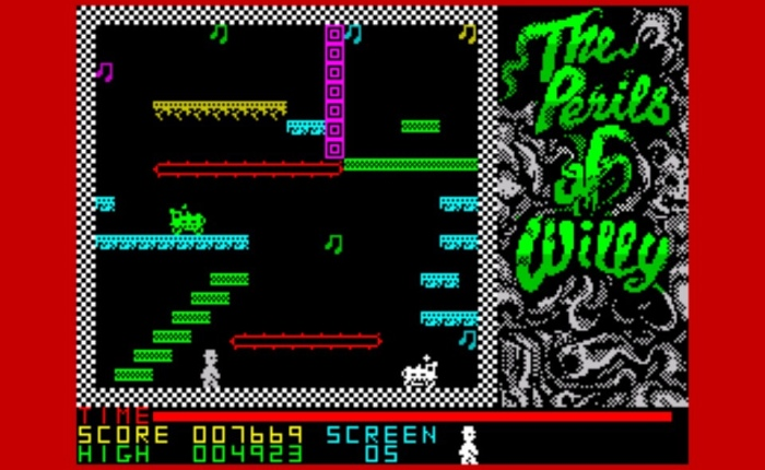 Sacrilege!!! The Perils of Willy On ZX Spectrum!