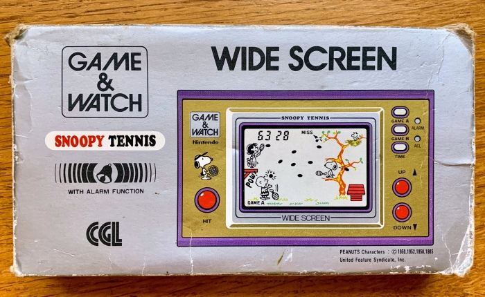 My Life With… Snoopy Tennis (Nintendo Game &Watch)